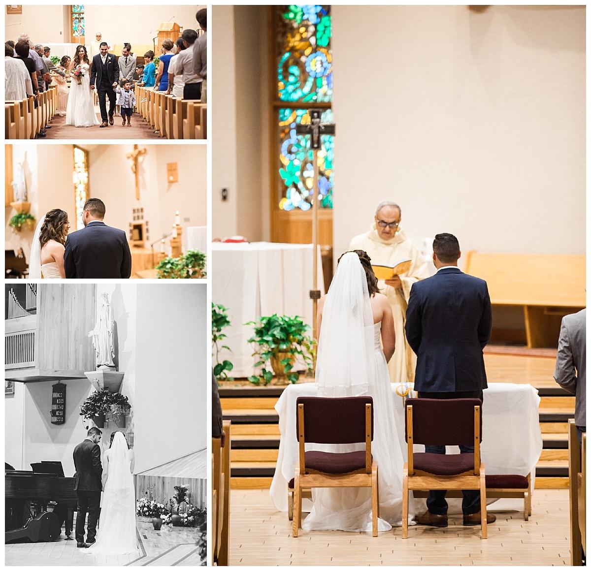 el paso wedding, st raphaels catholic church in el paso
