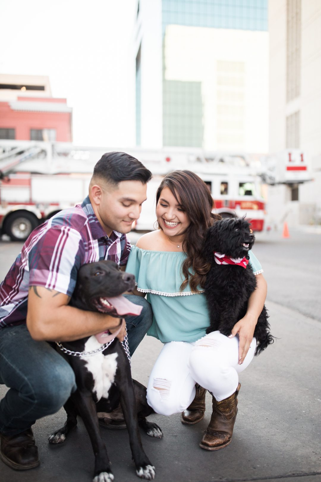 el paso firetruck engagement session, el paso wedding photography
