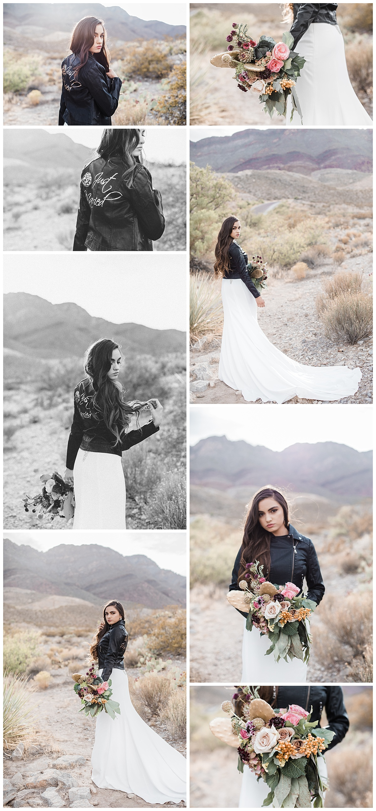Bohemian Desert Bridal Shoot In El Paso Texas Rock And Roll Leather