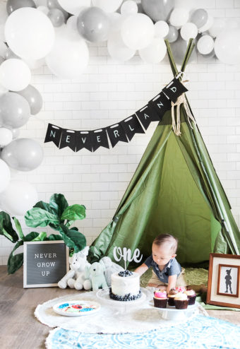Modern Indoor Peter Pan Neverland Cake Smash in El Paso