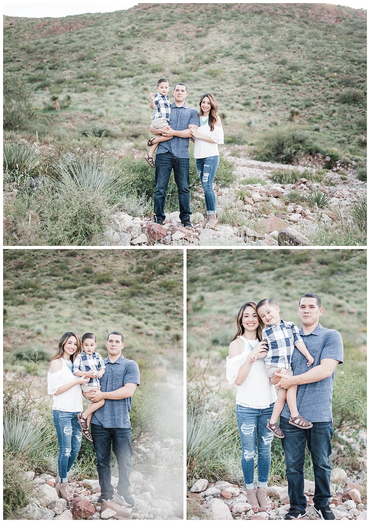desert mountains family session in el paso