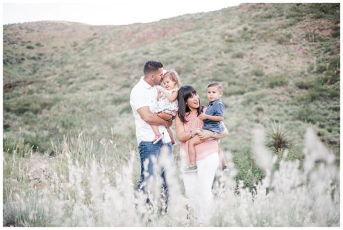 Desert Mountains Family Session in El Paso, Texas