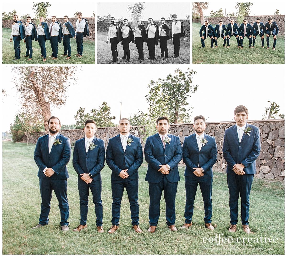 el paso simple rustic white wedding