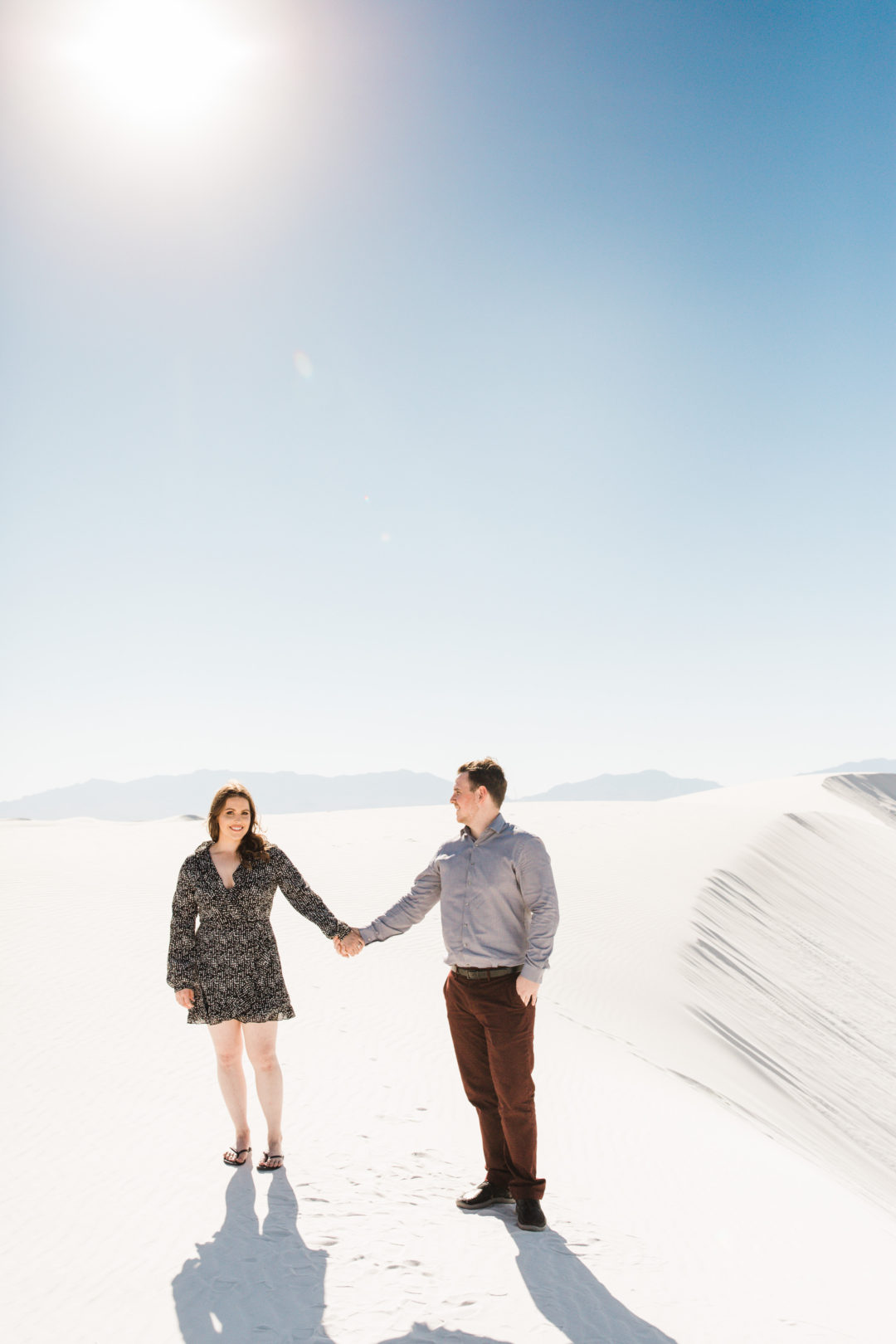 white sands engagement