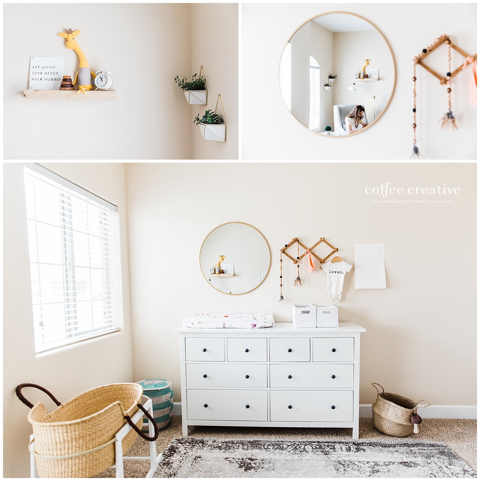 el paso newborn photographer, neutral and earthy nursery