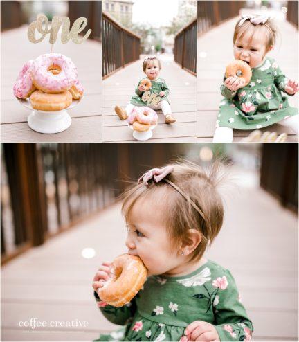 donut cake smash, downtown el paso photography, el paso cake smash