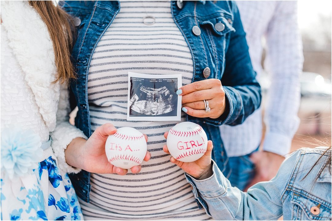 Baseball Inspired Gender Reveal