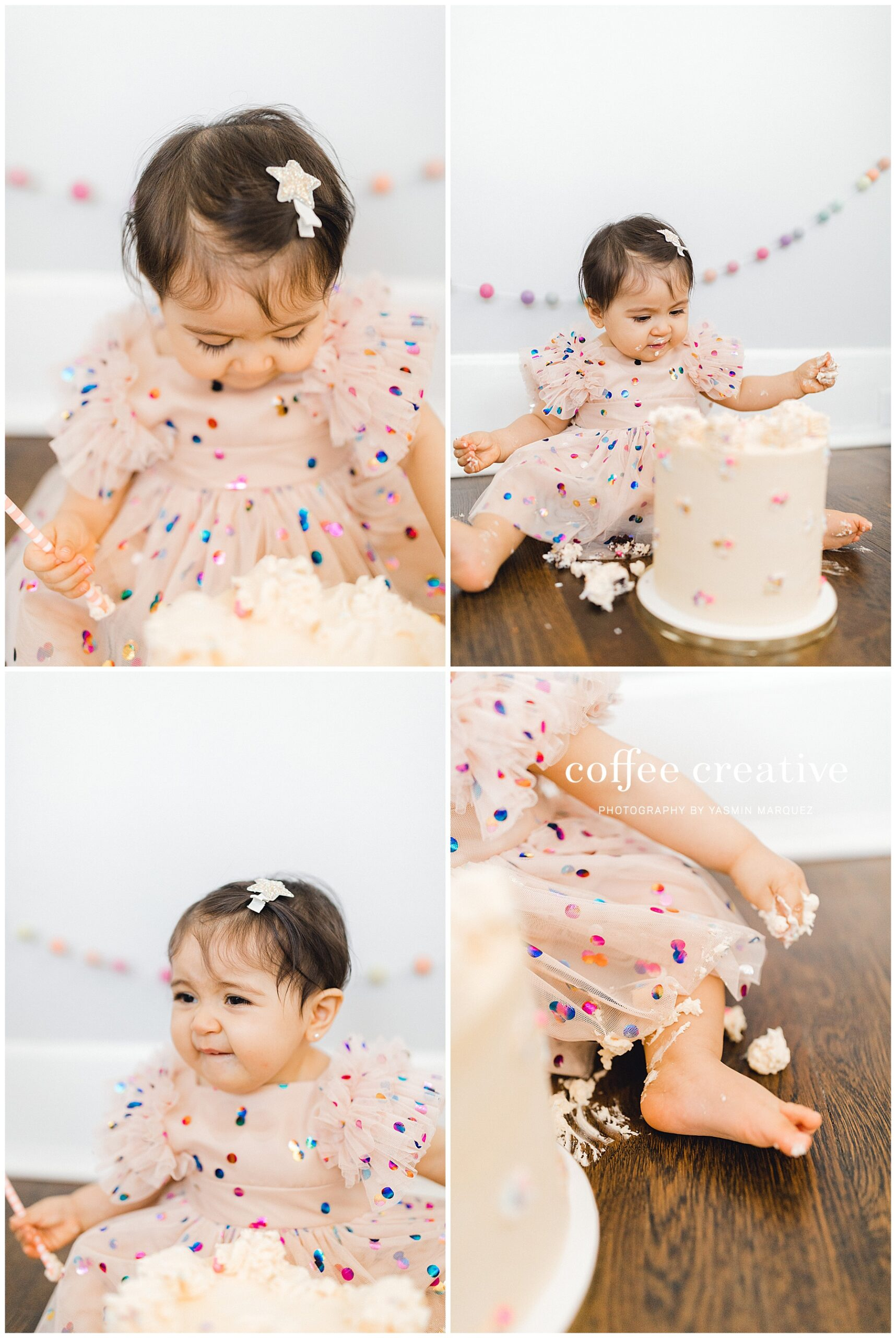 MODERN PASTEL SPRING CAKE SMASH, El paso photographer, el paso family photographer, el paso cake smash photographer, quarantine birthday party decor, inspired by this, 100 layer cakelet